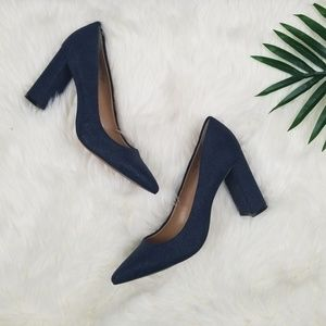 Banana Republic pointed toe block heel 10